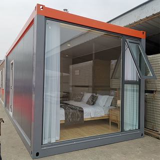 New Design Steel Prefab Prefabricated House Building Contain Hotel Flat Pack Storage Flat Pack House